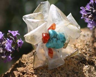 """Sea flower"" ring"