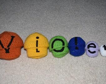 Personalized Crochet Nesting Dolls