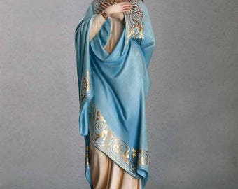 SECOND PAYMENT for D. D.      Immaculate Conception Virgin Mary Lay a Hand on Breast Serpent  Religious Statue Antique/555