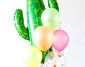 Fiesta Cactus Balloon Bouquet - Mexican Party Decor, Taco Bout a Party Margarita Bar, Cinco de Mayo, Bachelorette, Southwestern Wedding
