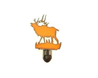 Elk Rusty Metal Image Style Night Light