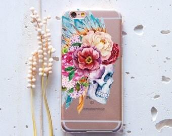 Skull Flower iPhone 8 Case iPhone 6 Plus Case iPhone 6 Case iPhone 7 Case for Samsung Galaxy S6 Case iPhone SE Case iPhone X Case WC1183