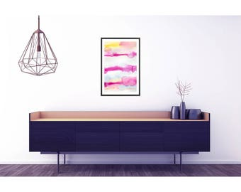 Abstract Pink Art Poster. Large abstract print. Modern Art print. Abstract Watercolor. Modern home decor. Large poster. Living room art