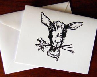 Goat Notecard // Goat Postcard // Goat Thank You Card