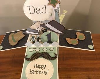Dad Birthday Card Explosion/ Pop Up Card