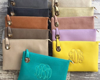 Laurel Crossbody- Monogrammed crossbody/Clutch