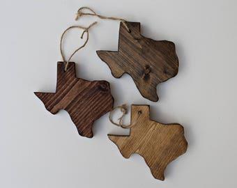 Wooden Texas Ornaments