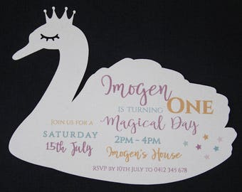 Graceful Swan Invitation