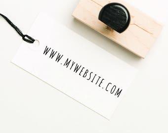 Website Stamp, Custom Business Stamp, Custom Self Inking Stamp, Personalized Business Stamp, Company Website Stamp, URL Stamp (SBIZZ115)