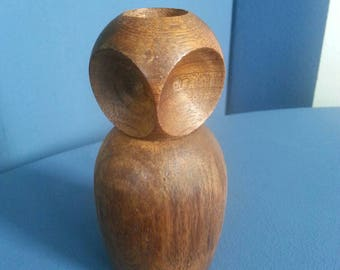 Oak Owl candlestick holder