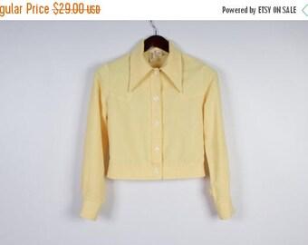 ON SALE Pale Yellow Jacket Women's Vintage Jacket Bomber Jacket Large Sleeves Hipster Blazer Vintage Short Blouse Summer Jacket Size Small
