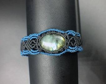 Macrame labradorite bracelet