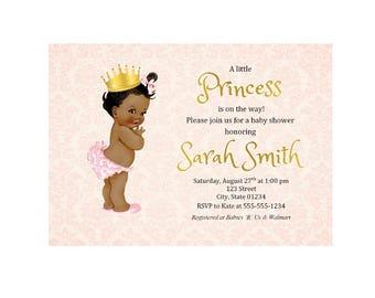 Royal Princess, Royal Princess Baby Shower, Royal Princess Baby Shower Invitations, Royal Baby Shower, Princess Baby Shower Invites