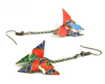 Origami earring Cancan