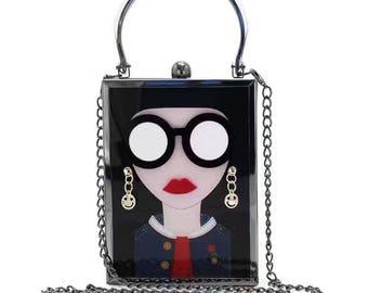 Black Beauty fashion with glasses box