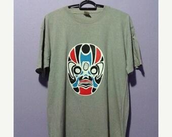 ON SALE 4 Vintage tilt theater japan mask tee shirt