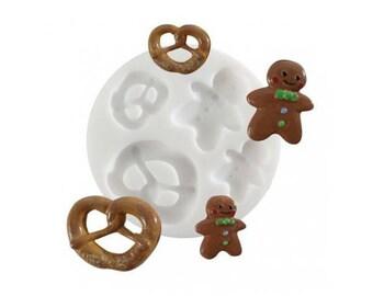Mini Silicone mold gingerbread