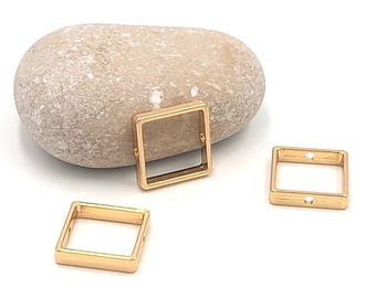 10 square bead 16mm color gold gilt frames