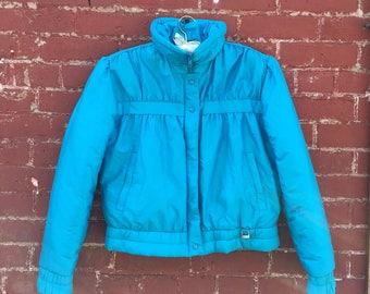 80s Light Blue Ski Coat