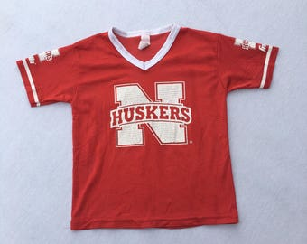 Vintage 80s Huskers Mesh Football Jersey T-Shirt