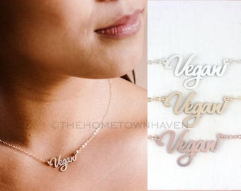 Vegan Necklace, Veganism, Animal Lover, Vegan pride, Christmas gift