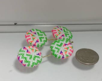 Hmong Buttons  (Up-cycled materials)
