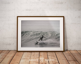 Surf Photography, Beach Wall Art Print, Ocean Water Surfing, Coastal Decor, Digital Download, Color Photography, Large Printable Poster Art