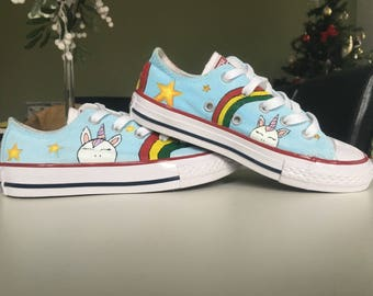 Customised Hand Painted Childrens Converse Shoes