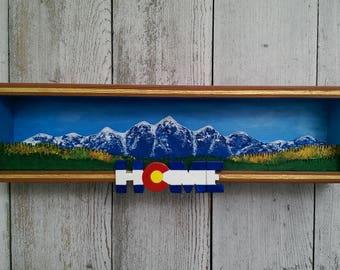 Colorado Autumn Mountains Shadow Box
