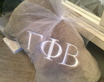 Monogrammed Throw Greek Letters Monogrammed Blanket Fleece Personalized Monogrammed  Gift Birthday Gift Wedding Gift