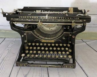 Underwood Standard No. 3 Manual Typewriter, Vintage Office, Working Typewriter, Industrial Decor, 1930s Office Machine, Vintage Underwood