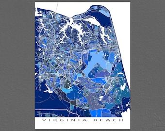 Virginia Beach Map, VA, City Street Maps