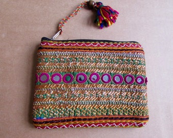 Banjara Wallet, Coin Purse, Handmade, Vintage Boho Purse Tribal Clutch Bag. Free UK Shipping B6