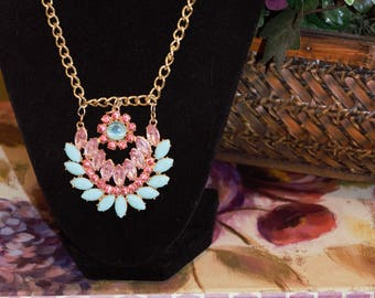 Flower Bling Necklace