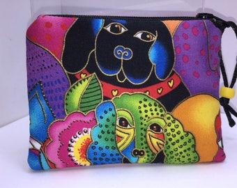 Kaleidoscope Dogs Coin Purse, Change Purse Small Zipper Pouch, Coin Purse Wallet
