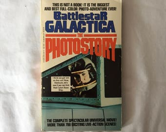 BATTLESTAR GALACTICA: The Photostory (Paperback Graphic Novel by Glen A. Larson)