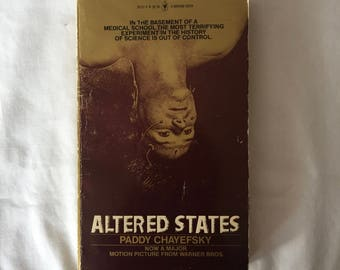 ALTERED STATES (Paperback Movie Tie-In by Paddy Chayefsky)
