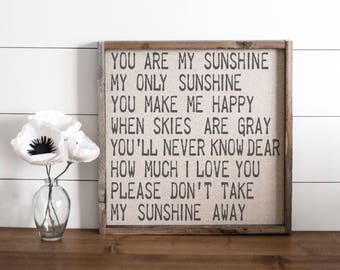 You Are My Sunshine  // 17x17 Handmade Sign