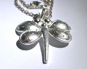 Dragonfly Necklace, Sterling Silver Dragonfly, Pendant, Dragonfly Jewelry, Women's Pendant, Necklace Dragonflies, Sterling Silver Chain