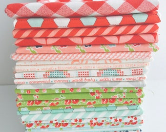 SALE!! 1/2 Yard Bundle Mixed Lines by Bonnie and Camille for Moda-55140AB- 26 Fabrics