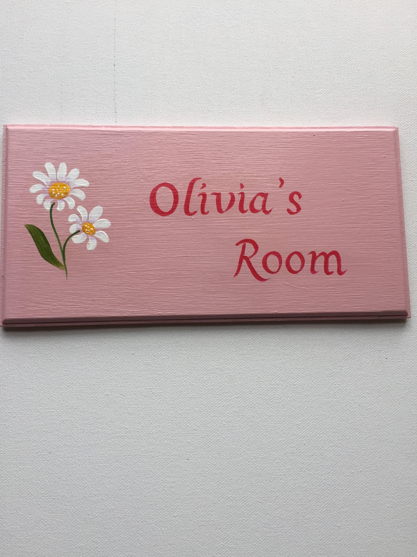 Personalized Bedroom Plaque Door Plaque Named Door Sign