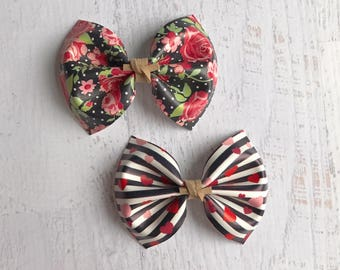 Valentine's Day bows | baby bows | baby headbands | toddler bows | toddler headbands | girls hair clips | newborn bows | floral bows