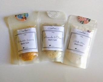 Pick your favourite Bath Salts. Free Shipping.