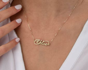14K Infinity Style Name Necklace