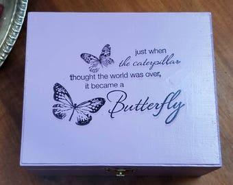 Tarot Card Box, Alter Box, Jewelry Box, Storage or Display Container, Witch Tarot Box, Crystal Keepsake, Essential Oil Box