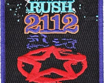 Rush 2112 Embroidered Patch / Iron On Applique, Officially Licensed
