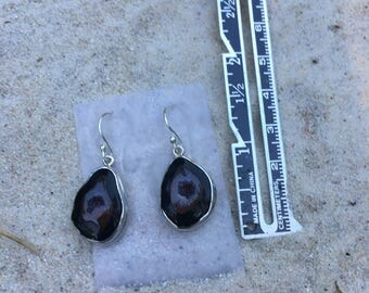 Tobasco geode earrings