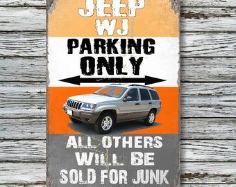 "Jeep WJ 12""x18"" Metal ""No Parking"" Sign"