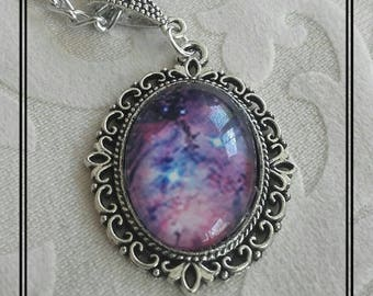 Galaxy medallion necklace