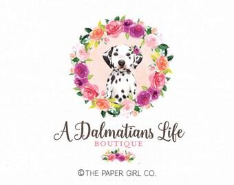 dalmatian logo dog logo pet logo photography logo premade logo dog walker logo pet bakery logo pre made logo boutique logo pet blog logo